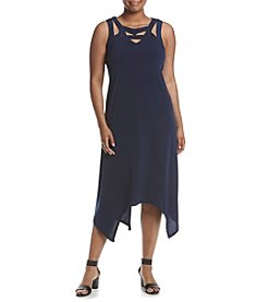 Madison Leigh® Plus Size Strappy Neckline Dress