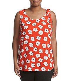 Jones New York® Plus Size Poppy Fields Tank
