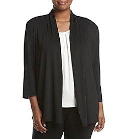 Kasper® Plus Size Ruched Back Cardigan