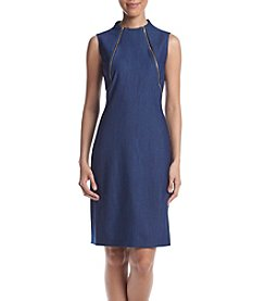 Calvin Klein Denim Zip Shoulder Dress