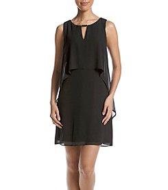 Vince Camuto® Black Chiffon Popover Dress