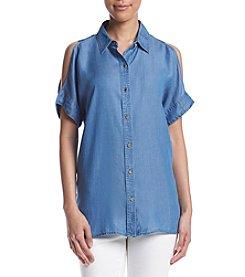 MICHAEL Michael Kors® Cold Shoulder Button Blouse