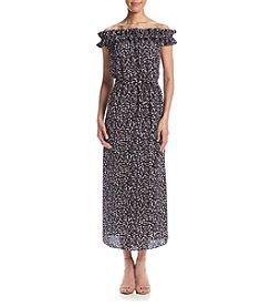 MICHAEL Michael Kors® Printed Off Shoulder Maxi Dress