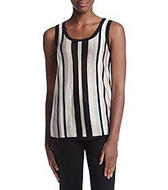 Anne Klein® Stripe Sweater Tank