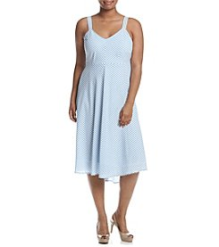 Taylor Dresses Plus Size Striped Dress