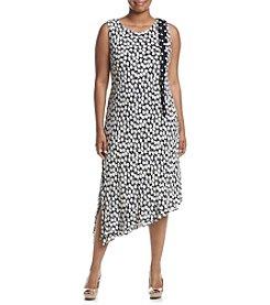 Taylor Dresses Plus Size Printed Dress