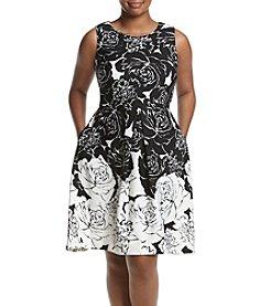 Taylor Dresses Plus Size Floral Printed Dress