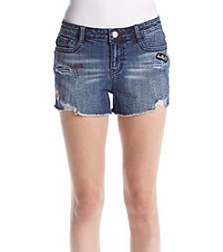 Hippie Laundry Fray Hem Patch & Destructed Shorts