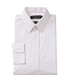 Nick Graham® White Diamond Print Dress Shirt