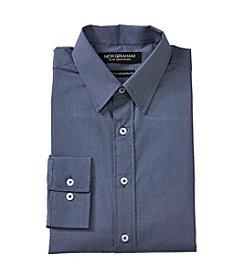 Nick Graham® Navy Pindot Dress Shirt