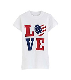 Exertek® Girls' 2T-6X Americana Heart Shine Love Tee