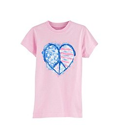 Exertek® Girls' 2T-6X Americana Peace Heart Tee