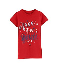 Exertek® Girls' 2T-6X Americana Free to Sparkle Tee