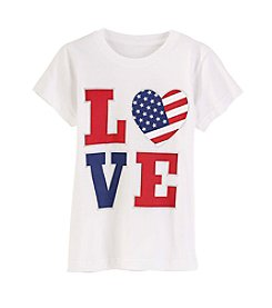 Exertek® Girls' 7-16 Americana Heart Shine Love Tee