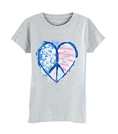 Exertek® Girls' 7-16 Americana Peace Heart Tee