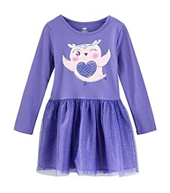 Mix & Match Girls' 4-6X Owl Tulle Dress