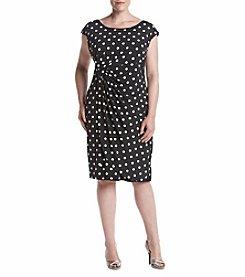 Connected® Dot Matte Jersey Dress