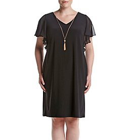 MSK® Plus Size Shift Necklace Dress