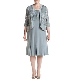 R&M Richards® Plus Size Lace Jacket Dress