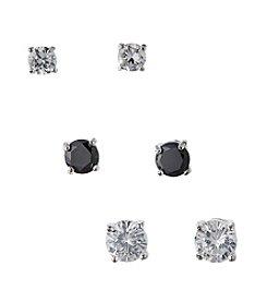 BT-Jeweled Trio Set Of Earrings