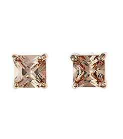 BT-Jeweled Champagne Cubic Zirconia Earrings