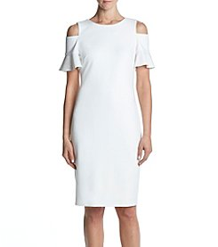 Calvin Klein Off-Shoulder Sheath Dress