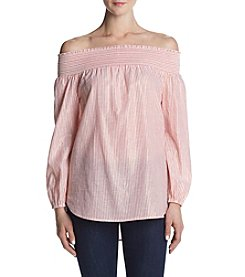 MICHAEL Michael Kors® Striped Off The Shoulder Top