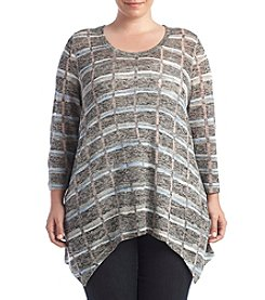 Chelsea & Theodore® Plus Size Sharkbite Top