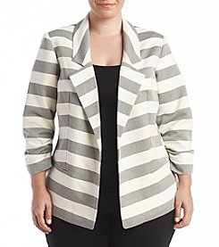 Jones New York® Plus Size Open Knit Blazer