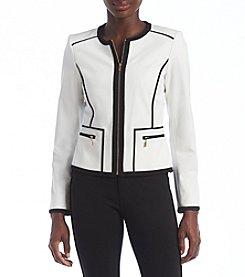 Calvin Klein Petites' Colorblock Zip Front Jacket