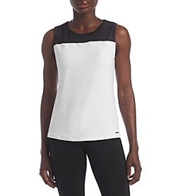 Calvin Klein Petites' Colorblock Knit Top