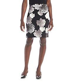 Calvin Klein Petites' Floral Knit Skirt
