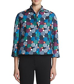 Anne Klein® Mock Turtle Neck Texture Jacket