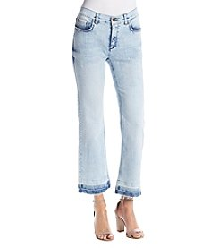 Jones New York® Frayed Hem Cropped Jeans