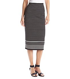 Max Studio Edit™ Stripe Midi Skirt