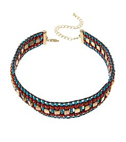 Ruff Hewn Beaded Choker Necklace