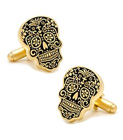 Cufflinks Inc. Day of the Dead Gold Skull Cufflinks