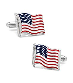 Cufflinks Inc. USA Waving American Flag Cufflinks