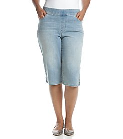 Gloria Vanderbilt® Plus Size Avery Embroidered Pull On Skimmers