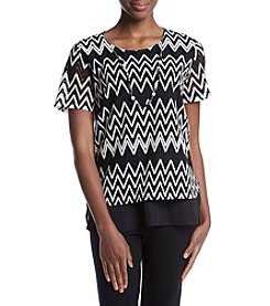 Alfred Dunner® Layered Necklace T-Shirt