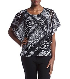 Alfred Dunner® Necklace Poncho T-Shirt