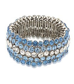 Carolee® Something Blue Tonal Stretch Bracelet