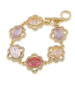 Carolee® Spring Bouquet Single Row Flex Bracelet