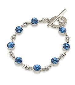 Carolee® Something Blue Crystal Single Row Flex Bracelet