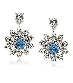 Carolee® Something Blue Cluster Drop Earrings