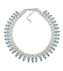 Carolee® Something Blue Crystal Collar Necklace