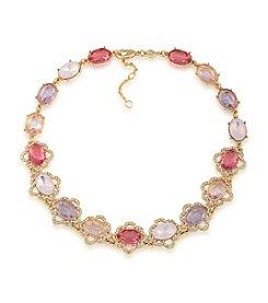 Carolee® Spring Bouquet Adjustable All Around Collar Necklace