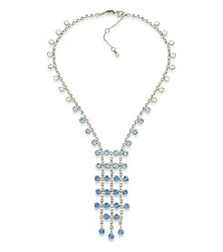 Carolee® Something Blue Faceted Stone Y Necklace