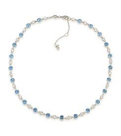 Carolee® Something Blue Crystal Adjustable Drama Bib Necklace
