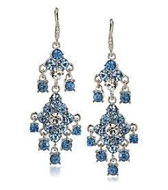 Carolee® Something Blue Crystal Double Drop Chandelier Earrings